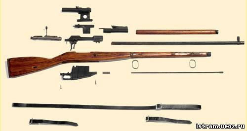 Чертёж винтовки мосина